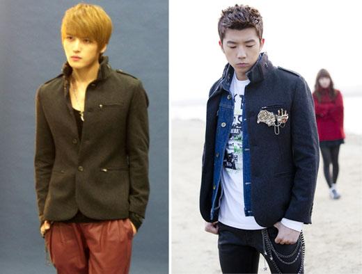 Jaejoong و WooYoung عضو 2PM يرتديان نفس الجاكيت .. من الأجمل ؟؟! Jaevswooyoungsyc