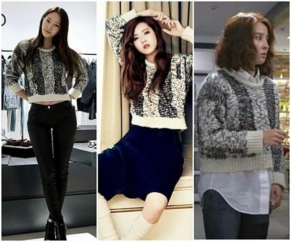 Go Ara , Krystal و Han Hye Jin يرتدين نفس التصميم .. من يبدو أجمل عليها ؟؟!